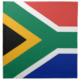 National flag of South Africa - Authentic version Printed Napkin
