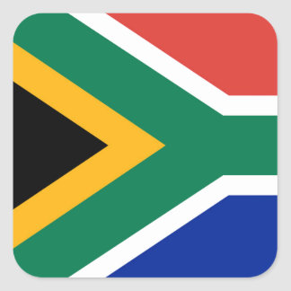 National flag of South Africa - Authentic version Square Sticker