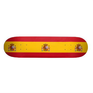 National Flag of Spain 21.6 Cm Skateboard Deck