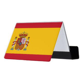 National Flag of Spain Desk Business Card Holder