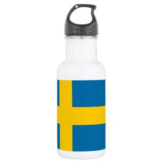 National Flag of Sweden 532 Ml Water Bottle
