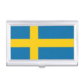 National Flag of Sweden Business Card Holder