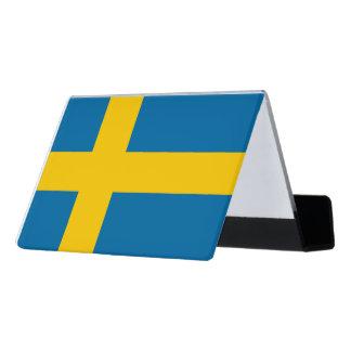 National Flag of Sweden Desk Business Card Holder