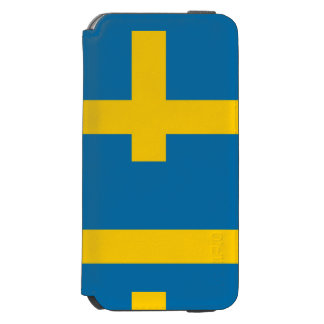 National Flag of Sweden Incipio Watson™ iPhone 6 Wallet Case