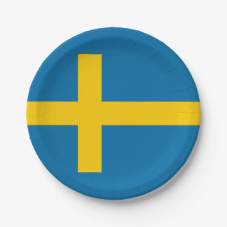 National Flag of Sweden Paper Plate