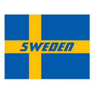 National Flag of Sweden Postcard