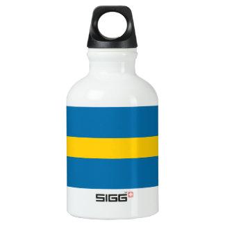 National Flag of Sweden Water Bottle