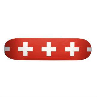 National Flag of Switzerland 19.7 Cm Skateboard Deck