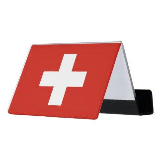 National Flag of Switzerland Desk Business Card Holder