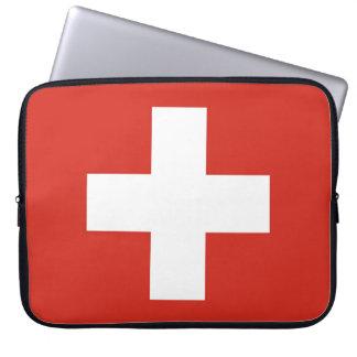 National Flag of Switzerland Laptop Sleeve