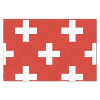 National Flag of Switzerland Tissue Paper