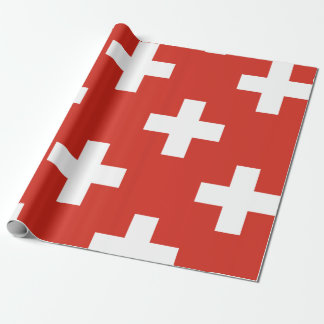 National Flag of Switzerland Wrapping Paper