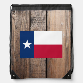 National Flag of Texas Drawstring Bag