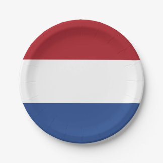 National Flag of the Netherlands, Holland, Dutch Paper Plate