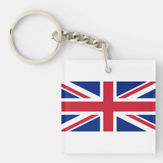 National Flag of the United Kingdom UK, Union Jack Double-Sided Square Acrylic Key Ring