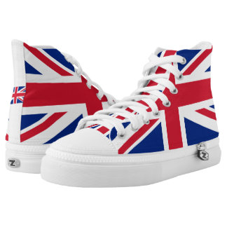 National Flag of the United Kingdom UK, Union Jack High Tops