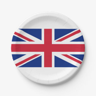 National Flag of the United Kingdom UK, Union Jack Paper Plate