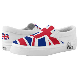 National Flag of the United Kingdom UK, Union Jack Slip On Shoes