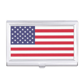 National Flag of the United States of America Business Card Holder