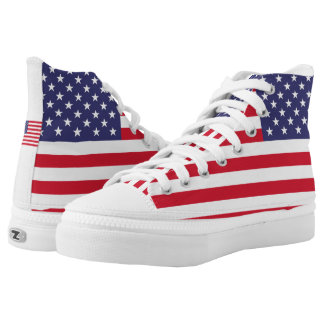 National Flag of the United States of America Printed Shoes