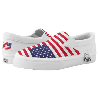 National Flag of the United States of America Slip On Shoes