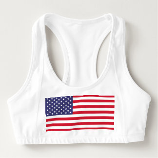 National Flag of the United States of America Sports Bra