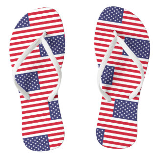 National Flag of the United States of America Thongs