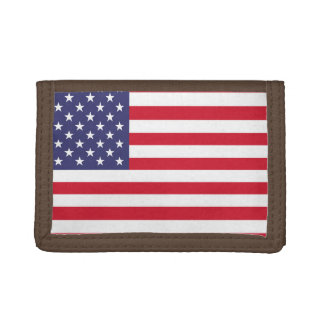 National Flag of the United States of America Trifold Wallets