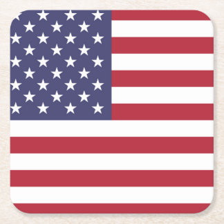 """National Flag of the United States of America USA Square Paper Coaster"