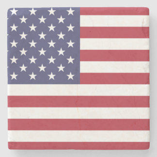 """National Flag of the United States of America USA Stone Coaster"