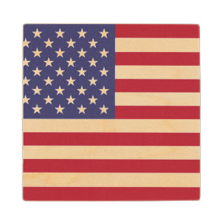 """National Flag of the United States of America USA Wood Coaster"
