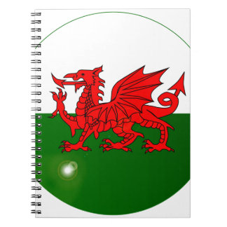National Flag of Wales Button Notebook