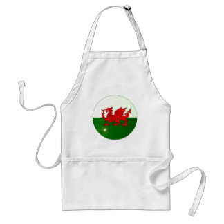 National Flag of Wales Button Standard Apron