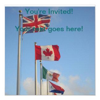 "National Flags ""St. Maarten"" 13 Cm X 13 Cm Square Invitation Card"
