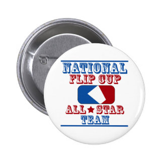 national flip cup champion 6 cm round badge