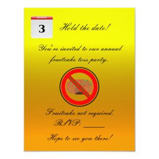 National Fruitcake Toss Day! 11 Cm X 14 Cm Invitation Card