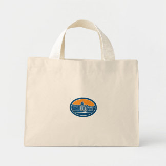 National Gallery London Building Retro Tote Bags