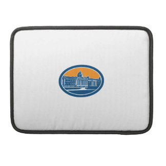 National Gallery London Building Retro Sleeves For MacBooks
