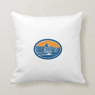 National Gallery London Building Retro Pillow