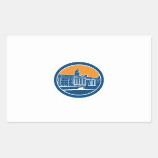 National Gallery London Building Retro Sticker
