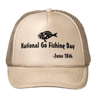 National Go Fishing Day Cap