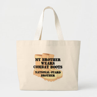 National Guard Brother wears DCB Canvas Bag