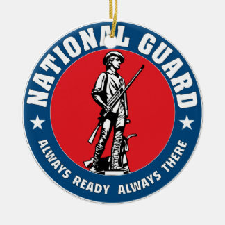 National Guard Ceramic Ornament