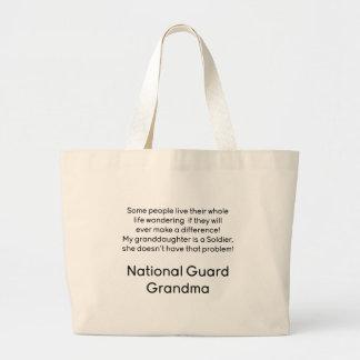 National Guard Grandma Granddaughter No Problem Jumbo Tote Bag