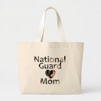 National Guard Mom Heart Camo Jumbo Tote Bag
