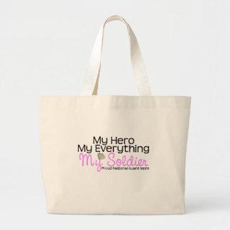 National Guard Mom Hero Jumbo Tote Bag