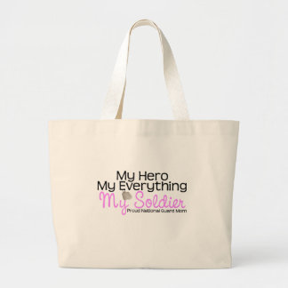 National Guard Mom Hero Large Tote Bag