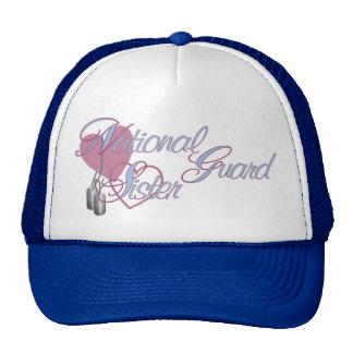 National Guard Sister Hearts N Dog Tags Cap