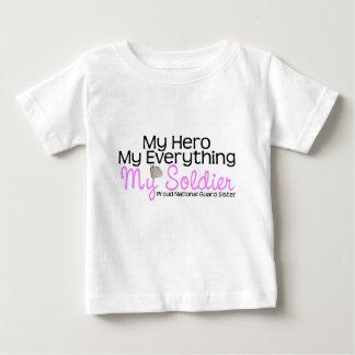 National Guard Sister My Hero Baby T-Shirt