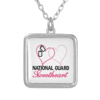 National Guard Square Pendant Necklace